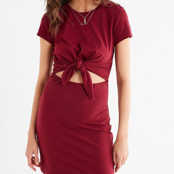 Urban Outfitters T Shirt Dress Tie Up Front